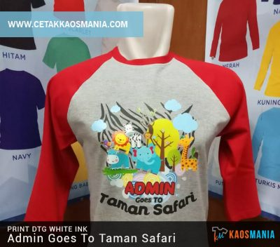 Print Kaos Goes To Taman Safari