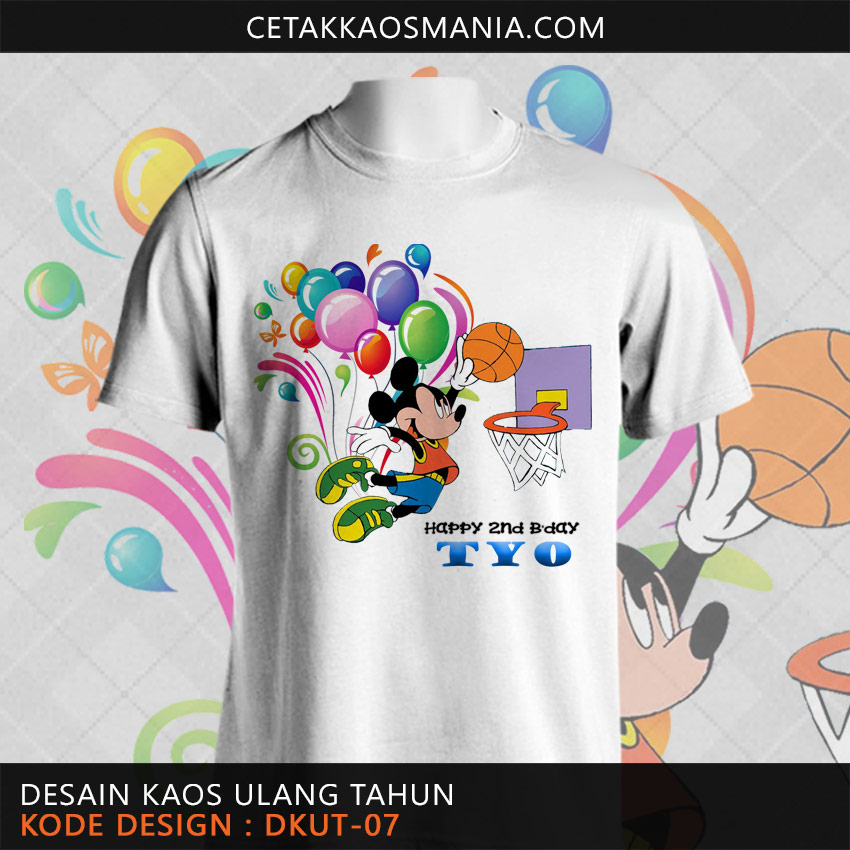Kaos Birthday Mickey Mouse
